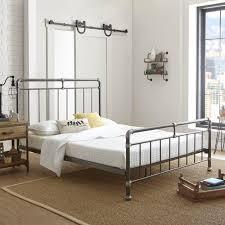 rest rite antique pewter queen platform bed vintage metal bed