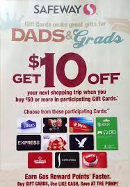 gas gift card deals safeway gift card promo spend 50 get 10 back