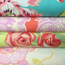 Amy Butler Home Decor Fabric by Amy Butler Love Bliss Bouquet In Teal Fabric Summer Floral