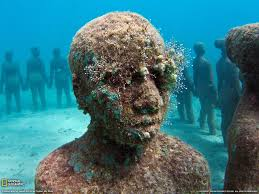 national geographic statues underwater widescreen high definition