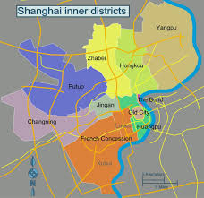 Map Of Shanghai China by Shanghai District Map Map Of Shanghai Districts China