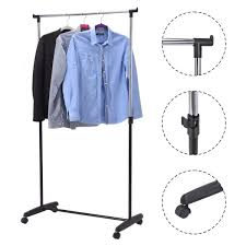adjustable rolling garment rack portable clothes hanger closet
