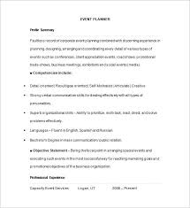 Resume Event Planning A Guideline To Design A Professional Event Planner Cover Letter