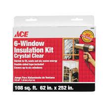 ace 6 window insulation kit window shrink film kits ace hardware