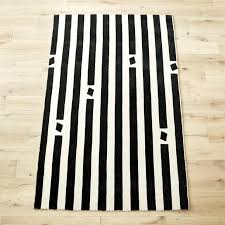 Black White Striped Rug Black And White Striped Hand Tufted Rug