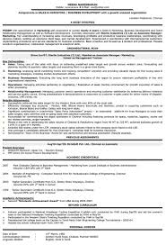 resume sles word format inspirational collection of resume for sales and marketing in word