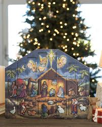 Home Interiors Nativity by Nativity Advent Calendar Balsam Hill