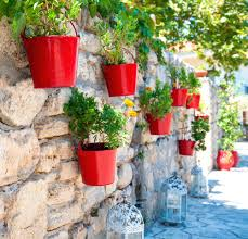 wall mounted planters handicraft aged decorative metal outdoor
