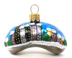 chicago mini bean ornament sew132