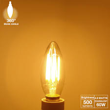 ul listed led filament candelabra bulb e12 base torchstar