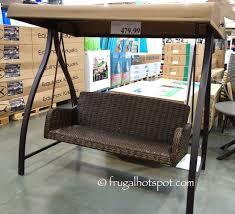 costco agio international 3 person woven patio swing 479 99