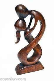 wood sculpture decor abstract modern wood sculpture pose decor
