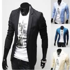 club wear casual single button long sleeve men suit jacket coat