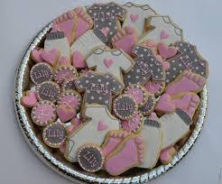 pink and grey baby shower pink grey girl baby shower cookie connection