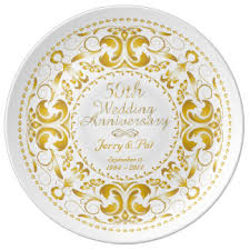 anniversary plate 50th wedding anniversary plates zazzle