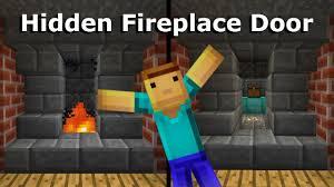 minecraft tutorial hidden fireplace door youtube
