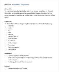 Medical Billing And Coding Job Description For Resume by Sample Medical Billing And Coding Job Description 9 Examples In