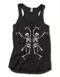 halloween dancing skeleton halloween dancing skeleton tri blend tank top alternative apparel