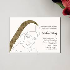mehndi card wording henna party mehndi wedding invitations retro by soulful