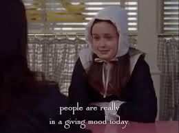 rory gilmore thanksgiving gif by gilmore find on giphy