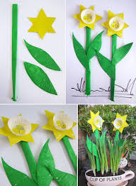 Art And Craft For Kids With Paper Plates Mollymoocrafts Paper Plate Cupcake Daffodils Mollymoocrafts
