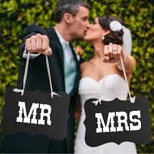 Mr And Mrs Wedding Signs Amazon Com Mr And Mrs Photo Props Mr And Mrs Chair Signs