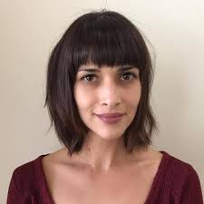 bet bangs for thick hair low forehead 60 super chic hairstyles for long faces to break up the length