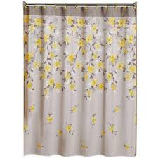 Yellow And Navy Shower Curtain Shower Curtains Shower Accessories The Home Depot