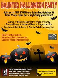 october 29 haunted halloween party the studio martial arts