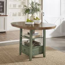oval counter height dining table eleanor solid wood oval extendable counter height pedestal base