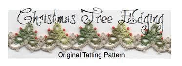 tree edging with corner tatting pattern