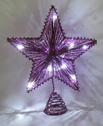 purple christmas tree 10 purple springy with white led lights