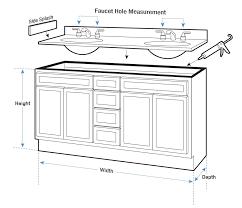 Over John Cabinet Bathroom Sink Base Cabinet Dimensions Standard Vanity Amazing Of