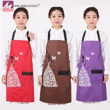 les modeles de tablier de cuisine 2018 nouveau solide couleur papillon motif bib tabliers kitchenapron