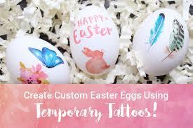 custom easter eggs create custom easter eggs using temporary tattoos stickeryou