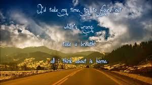 home ryan sheridan lyrics youtube