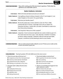 reading comprehension grade daily reading comprehension grade 5