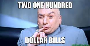 Meme With Two Pictures - two one hundred dollar bills dr evil meme aussie memes
