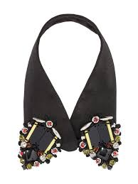 collar necklace beads images Fabric collar with beads in colored glass from the marni jpg