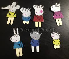 peppa pig craft puppets from printables pig crafts puppet and