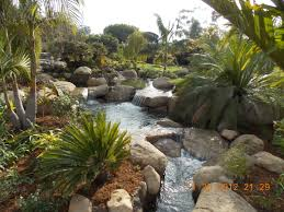 Water Rock Garden Tropical Garden Waterfalls Santa Barbara Garcia Rock And Water