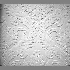 anaglypta premium textured vinyl high leaf floral paintable