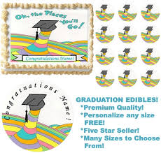 oh the places you ll go graduation oh the places you ll go graduation edible cake topper image