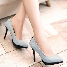 Light Blue High Heels Light Blue Point Toe Stiletto Denim Fashion High Heeled Shoes