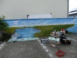 airbrush wandgestaltung airbrush wandgestaltung hofeinfahrt wandmalerei wallpainting
