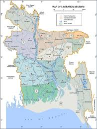 Map Of Bangladesh Map Of Sectors Of 1971 Liberation War Of Bangladesh