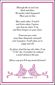 how to ask of honor poem asking bridesmaids poems