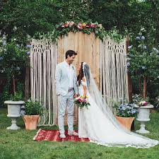 wedding backdrop outdoor macrame wedding arch bohemian backdrop custom curtain boho