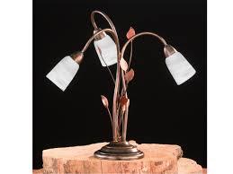 Wohnzimmer Lampe Ebay Tischleuchte Kopper Glasschirm Weiß Rost Antik Wohnzimmerlampe