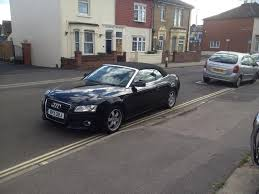 black audi convertible used black audi a5 2011 petrol 1 8t fsi 2dr low convertible in